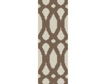 Geometric 45 Peyote Bead Pattern, Bracelet Cuff, Bookmark, Seed Beading Pattern Miyuki Delica Size 11 Beads - PDF Instant Download