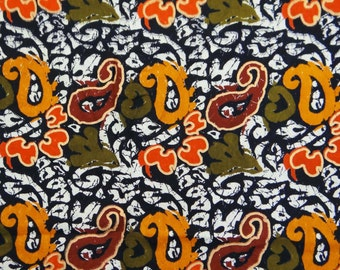 """Decorative Cotton Fabric For Sewing Designer 42"""" Wide Black Cotton Paisley Printed Fabric Craft Sewing Dressmaking By The Yard ZBC6602"""