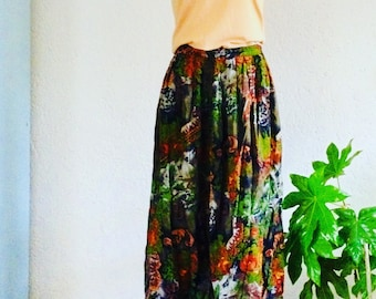 Vintage botanical skirt | botanical skirt | size M | stretchy waist |