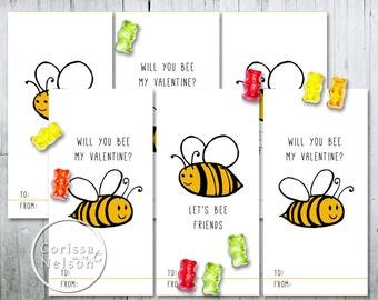 bunny valentine card printable kids friends 6 per page