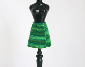 Blythe doll Wrap Skirt knitting PATTERN - basic wrap skirt in three lengths for Neo - instant download - permission to sell finished items