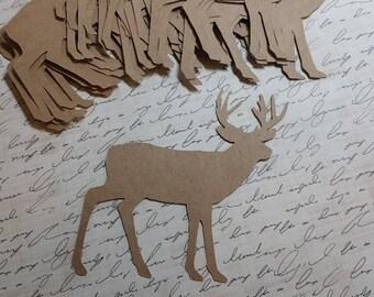Die cut Deer. KRAFT #CR-41
