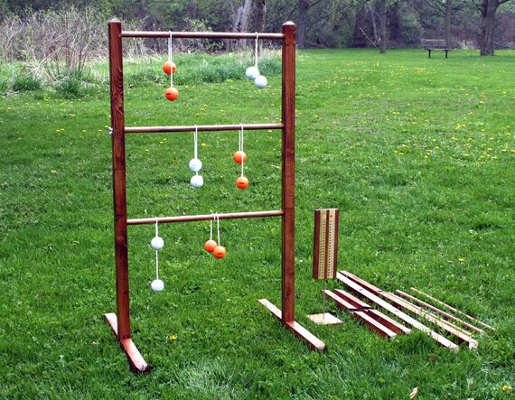 Ladder ball yard game set with tote wedding games wooden ladder ball yard game set with tote wedding games wooden ladderball wood ladder golf ball bolas ladder toss redneck horseshoes party game solutioingenieria Images