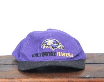 Vintage 90's Baltimore Ravens Football NFL Hat Strapback Baseball Cap