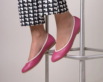 Pink classic ballerina shoes