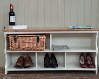 Shoe rack hall shoe bench with storage shelves and compartments