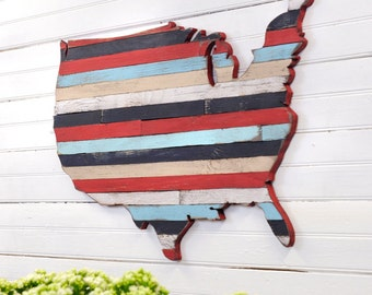 USA Map Art Pallet Art US Map Wall Art Home Decor Pallet Map Office Decor Wooden Map Wooden United States Map Rustic US Map Large Map
