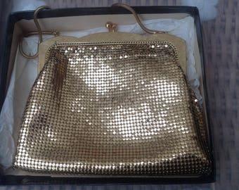 Original Vintage 1960's Gold Mesh Handbag