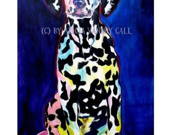 Dalmatian, Pet Portrait, DawgArt, Dog Art, Pet Portrait Artist, Colorful Pet Portrait, Dalmatian Art, Pet Portrait Painting, Art Prints