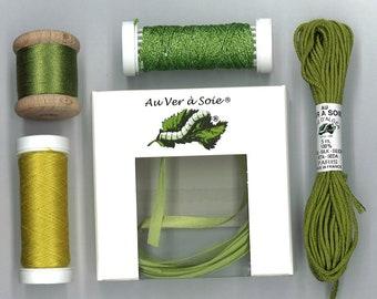 find silk blend light green 2 Pack