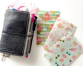 Summer Vellum for Travelers Notebooks - For Pocket Size TN