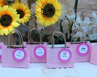Personalized Small Baby Shower Favor Bags - Set of 12