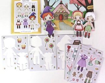 Hansel & Gretel Pocket Pal - Paper Doll Set