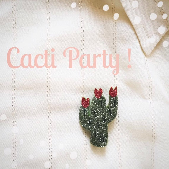 PIN Cactus flower - Handmade - La Rochelle