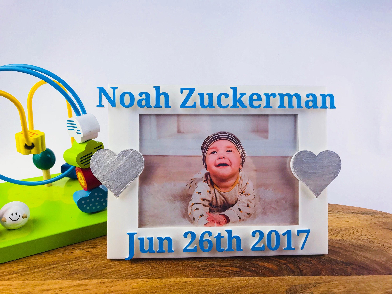 Baby Boy Bilderrahmen personalisierte Geburt Ankündigung Bild
