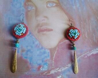 Blue agate  earrings and silver 925  ,dangling earrings,bohemian earringss