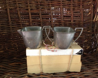 Vintage Pewter Cream and Sugar Set- Deco Cream and Sugar Set SALE WAS 24.00 now 19.00