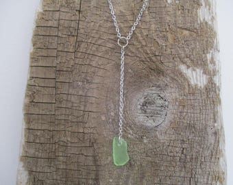 Sea Glass Lariat Necklace