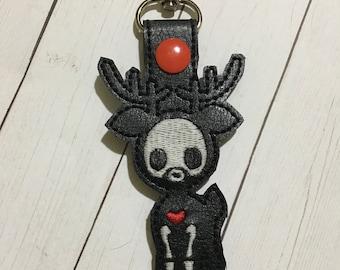 Glow-In-The-Dark Skull Buck Key Fob