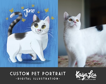Custom Pet Portrait Illustration | Personalized Pet Drawing | Pet Memorial Illustration | Custom Digital Art Printable