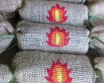 Handmade Campfire,fireplace and BBQ  Fire Starters,eco-friendly, natural, fire starter,camping supplies,BBQ supplies, 4 pack is only 5.00