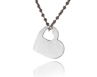 Heart necklace for her heart shaped necklace heart necklace charm