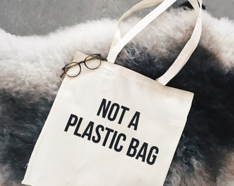 Bag tote sac natural cotton quote vegan eco friendly