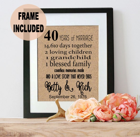 What Is The 40th Wedding Anniversary Gift: 40th Anniversary Gift 40th Wedding Anniversary Gift 40 Years