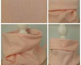Warm adult Snood reversible pink - neck warmer-