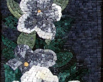 Anemone Flowers Handmade Mosaic Art
