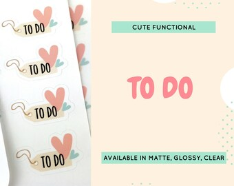 Functional Stickers | To do Stickers | Cute Stickers | Planner Stickers | Stickers | Vertical | Erin Condren | Happy Planner | CS13