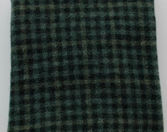 Checkmate: Fat Quarter Yard, Felted Wool Fabric for Rug Hooking, Wool Applique & Crafts