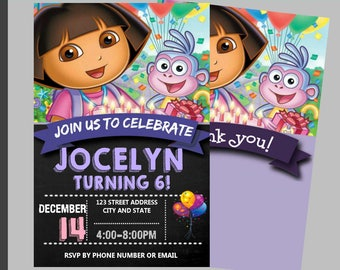 Dora invitations etsy dora the explorer birthday invitation dora party invitation dora invitation dora editable dora birthday invitation dora the explorer filmwisefo