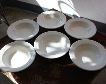 Set of 6 Off White Sterling China Side Dishes