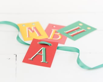 DIY Personalized Name Letter Garland in Circus Colors