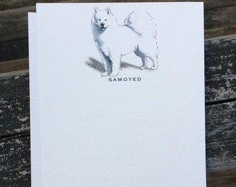 Samoyed Dog Note Card Set