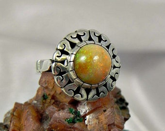 Natural Opal Sterling Ring