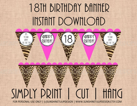 birthday banner print