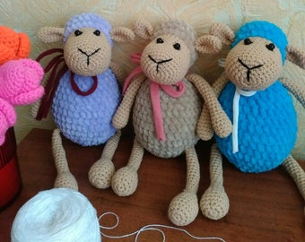 Set of Knitted Sheeps