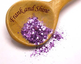 African Violet Metallic Solvent Resistant Nail Glitter Mix 5g