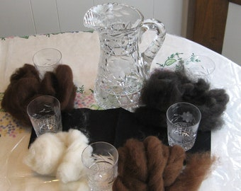 Alpaca sampler.  Each color is half oz. for a total of a 2 oz of alpaca fibers