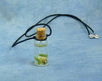 Frog Specimen Jar Necklace  - Handmade Biology Inspired Jewelry
