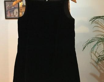 Ultra mini A line velvet dress