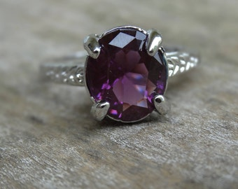 Color Changing Alexandrite 925 Solid Sterling Silver Ring Size 6 7 8 9 10 - Natural Gemstone Ring - Victorian Ring - Ring size 7 8 9 10