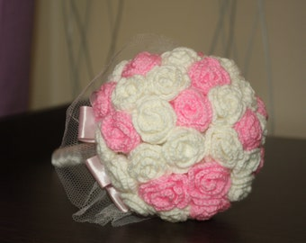 Wedding Bouquet of knitted flowers
