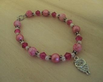 Owl Always Love Pink Bracelet
