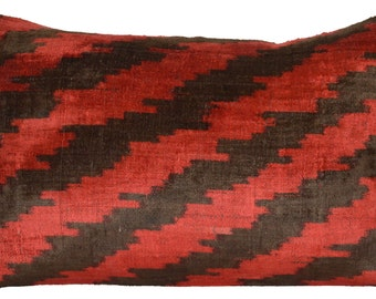 Double-Sided Handmade Ikat Pillow