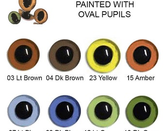 10 Pair 5mm Plastic Sew On Cat Eyes Article LP2 Available in 8 Colours Oval Pupils Teddy Bear Dragon Plush Toy Stuffed Animal Plushie