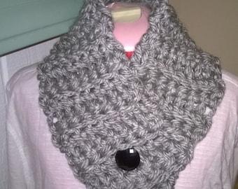 Cache-cou de bouton grosse écharpe au Crochet