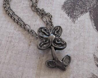 Handmade Flower Necklace, Handmade Steel Necklace, Steel Flower Necklace, Spring Fashion, Spring Flower Necklace, Summer Fashion